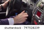 hand businessman holding car... | Shutterstock . vector #797528239