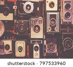 collection of generic antique... | Shutterstock . vector #797533960