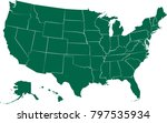 usa states vector map isolated... | Shutterstock .eps vector #797535934