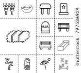 rest icons. set of 13 editable... | Shutterstock .eps vector #797536924