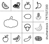 Vegetarian Icons. Set Of 13...