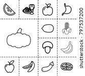Vegetarian Icons. Set Of 13...