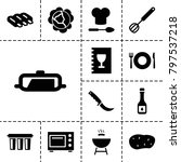 cooking icons. set of 13... | Shutterstock .eps vector #797537218