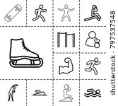 athlete icons. set of 13... | Shutterstock .eps vector #797537548