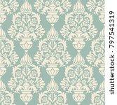 seamless damask wallpaper in... | Shutterstock .eps vector #797541319