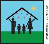protection of family in home... | Shutterstock .eps vector #797546434
