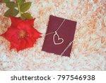 "love present ""neck let"" in a... | Shutterstock . vector #797546938"