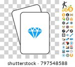 gem playing cards pictogram... | Shutterstock .eps vector #797548588