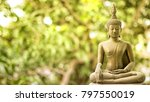 buddha statue with natural warm ... | Shutterstock . vector #797550019