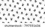 cat seamless pattern cross bone ... | Shutterstock .eps vector #797551636
