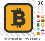bitcoin button pictograph with...
