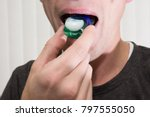 pod challenge with detergent   Shutterstock . vector #797555050