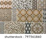 tile  ceramic mosaic geometric... | Shutterstock . vector #797561860