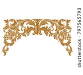 vector golden vintage border... | Shutterstock .eps vector #797565793