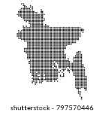 bangladesh map vector. map... | Shutterstock .eps vector #797570446