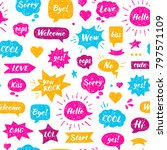 seamless hand drawn pattern.... | Shutterstock .eps vector #797571109