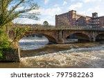 Historic River Bridge And Mill...