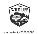 vintage monotone wildlife... | Shutterstock .eps vector #797583688