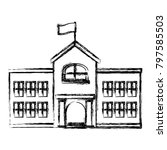 School Building Isolated