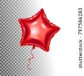 red ballon isolated on... | Shutterstock .eps vector #797586283