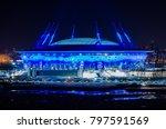 saint petersburg  russia  ... | Shutterstock . vector #797591569