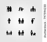 humans icon set vector. woman... | Shutterstock .eps vector #797594230