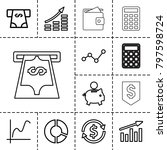 economy icons. set of 13... | Shutterstock .eps vector #797598724