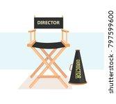 cinema director chair | Shutterstock .eps vector #797599600