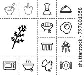 cooking icons. set of 13... | Shutterstock .eps vector #797601358