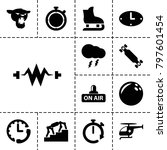 speed icons. set of 13 editable ... | Shutterstock .eps vector #797601454
