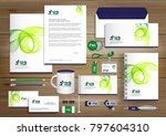 green blue corporate identity... | Shutterstock .eps vector #797604310
