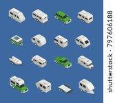 recreational vehicles isometric ... | Shutterstock . vector #797606188