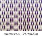 traditional thai reed mat... | Shutterstock . vector #797606563