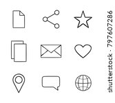 icons for the site | Shutterstock .eps vector #797607286