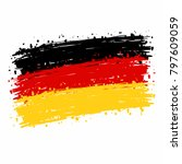 germany flag grunge style. | Shutterstock .eps vector #797609059