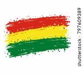 bolivia flag grunge style | Shutterstock .eps vector #797609389