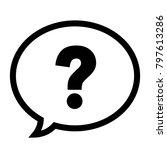 question mark in a speech... | Shutterstock .eps vector #797613286