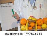 healthy natural organic food... | Shutterstock . vector #797616358