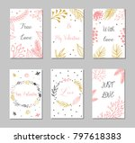 decorative greeting cards for... | Shutterstock .eps vector #797618383