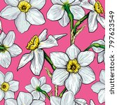 seamless pattern with flowers... | Shutterstock . vector #797623549
