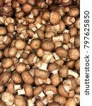 royal mushroom champignons.... | Shutterstock . vector #797625850