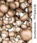 brown champignon mushrooms food ... | Shutterstock . vector #797626138