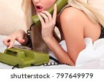 sex on the phone  sexy woman... | Shutterstock . vector #797649979