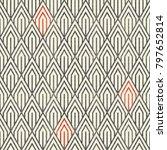 seamless geometric pattern in... | Shutterstock .eps vector #797652814
