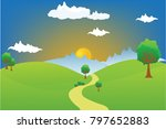 vector cartoon design of a... | Shutterstock .eps vector #797652883