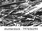 grunge black and white straw...   Shutterstock .eps vector #797656294