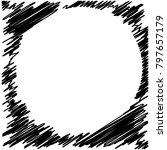 circle hatching grunge graphite ... | Shutterstock .eps vector #797657179