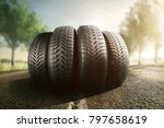 Summer tires on a street
