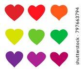 heart love icon on white... | Shutterstock .eps vector #797663794