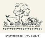 sketchy garden | Shutterstock .eps vector #79766875